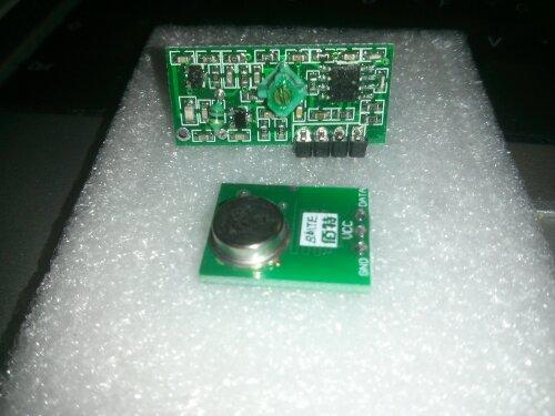 Trådløs data transmisions kit, en lille 433Mhz RF sender og modtager
